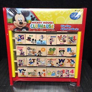 Mickey Mouse Clubhouse Flip-Flop Alphabet Blocks Disney - New
