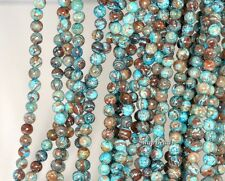 4MM TURQUOISE CALSILICA GEMSTONE ROUND 4MM LOOSE BEADS 16""