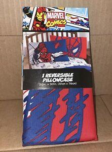 Marvel Comics Spider-Man Reversible Pillowcase Standard Size, New