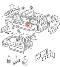 Genuine VW Side Window Left Rear NOS VW Eurovan Transporter Syncro 703845331F