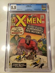 X-Men 4 CGC 5.5 ow/w Marvel Comics 1st Scarlet Witch Quicksilver 1964 Silver Age