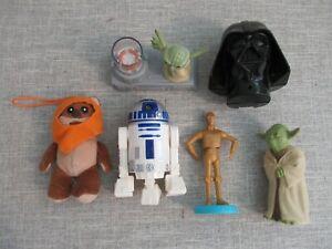 Clone Wars Star Wars Disney figure toy playset bundle R2D2 Yoda Ewok C3PO Vadr A