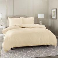 Duvet Cover Set Soft Brushed Comforter Cover W/Pillow Sham, Cream - King