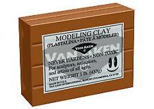Plastalina Modeling Clay 1 lb. Bar - Terra Cotta