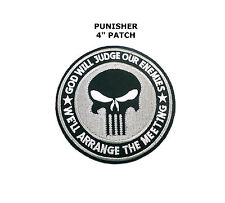 "Punisher Skull Logo Applique Patch Iron On Embroidered Marvel Comics 3"" BLACK"
