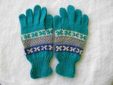Brand New Alpaca Blended Full Finger Gloves Teen Adult Size Geometric Inca #157