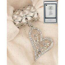 Equilibrium Scarf Ring With Dangly Heart Charm Jewellery Ladies Womens Gift