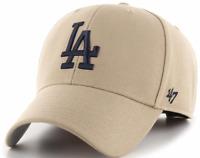Los Angeles Dodgers Cap MLB Baseball 47 Brand Kappe Klettverschluß Beige LA