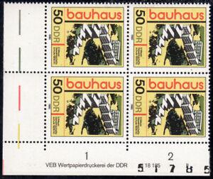 """DDR 2512 DV (50 Pfg. Bauhaus) im EVB mit FN """"II"""", postfrisch"""