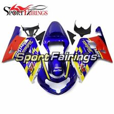 Injection ABS Fairings For Suzuki GSXR600 750 K1 2000 - 2003 Blue Yellow Covers