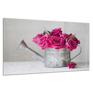Wall Art Picture Tempered ESG Glass Photo Print Rose Vintage Chic Prizma GWA0346