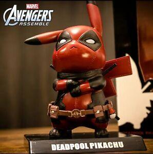 Pikachu's Deadpool Marvel cartoon character toy pocket doll