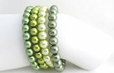 Green,Pistachio Green Stretchable Bracelet Set of 4 Bracelets Green,Olive
