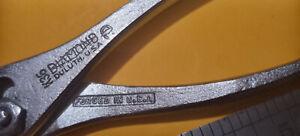 "VINTAGE DIAMOND HORSESHOE CO. K36 6-1/2"" SLIP JOINT PLIERS DULUTH MN. USA"