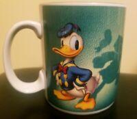 Disney Donald Duck Shadows Goofy Coffee Cup Mug Green High Five Vintage