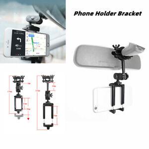 Universal Car Rearview Mirror Phone Holder Stand Car Navi Bracket Adjustable