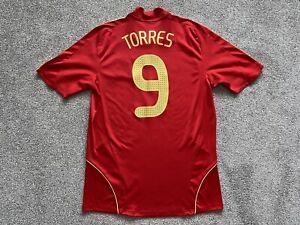 Spain Home Football Shirt Jersey 2007-2009 (M) TORRES #9