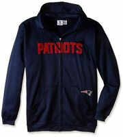 New England Patriots Full Zip Hoodie Therma Base Delay Navy Plus Sizes NFL