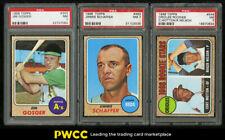 Lot(3) 1968 Topps w/ Jim Gosger Schaffer Orioles Rookies, ALL PSA 7 NRMT (PWCC)