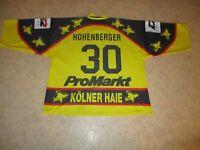 "Kölner Haie Original Eishockey Trikot 95/96 ""ProMarkt"" + Nr.30 Hohenberger Gr.XL"