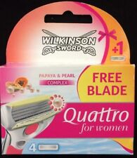 Wilkinson Sword Quattro For Women Papaya & Peal Razor Blades 4,