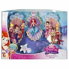 Disney Little Kingdom - Ariel Mermaid Sisters Giftset - Color Changing New, HTF!
