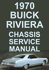 BUICK RIVIERA WORKSHOP MANUAL: 1970