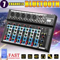 GAPPIO  bluetooth 7 Channel Live Audio Mixer Sound Mixing USB Power Console
