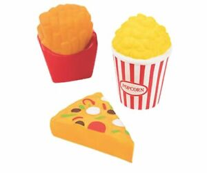 3 pack Scented Junk Food Squishy Stress Balls Squeeze Toy