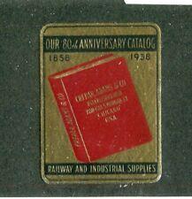 Poster Stamp Label CRERAR ADAMS & CO Railway Supplies 1938 80th Anniversary