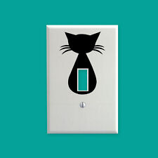CUTE KITTY CAT vinyl light switch decal wall art/decor/sticker