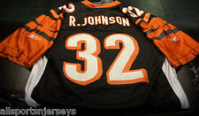 NEW NFL CINCINNATI BENGALS RUDI JOHNSON #32 HOME REEBOK COLORS JERSEY ADULT L