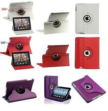 CUSTODIA CASE COVER PER APPLE IPAD 2-3-4 ECOPELLE 360° ROTANTE