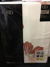 One lined door curtain  large cream terracotta flowers brand new