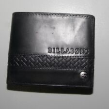 New : Billabong Black Leather Wallet - Medium, Style 3