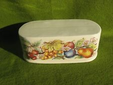 AWESOME  2  PIECE  CERAMIC    BUTTER   DISH..  FREE SHIPPING     MADE  IN  USA
