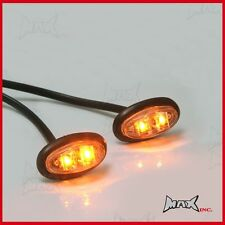 Amber Oval Turning Signal Indicator Marker LED Light Blinkers