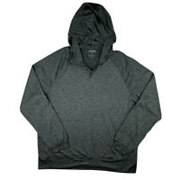 FOG by London Fog Men Large Hoodie Jacket 1/4 ZIP Active Outdoor Stretch Black