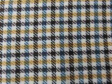 "Vintage Wool 2 Yards - Suiting Check Fabric - 59"" x 76"""