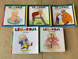 lot 5 livres LEO et POPI (1 cartonné) - Pomme d'api 2 ans