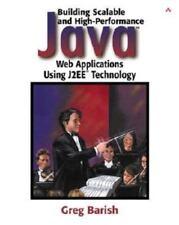 NEW Computer BOOK & CD: BLDG SCALABLE HIGH-PERFORMANCE JAVA WEB APPS, Barish '02