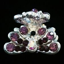 USA Hair Claw Clip Hairpin Rhinestone Crystal Small Fashion Peacock Purple