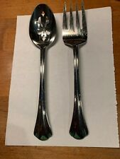 Stainless Pfaltzgraff Margate 1 Meat Fork & 1 Slotted Spoon