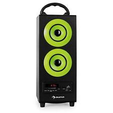 (RICONDIZIONATO) AUNA ALTOPARLANTE BLUETOOTH USB SD AUX RADIO FM SUBWOOFER CASSA