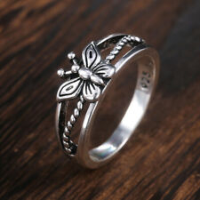 Elegant Bee Shaped Rings for Women 925 Silver Jewelry Party Ring Size 6-10