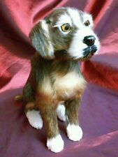 """Vintage Life Like Real Fur Sit Dog Figure 8"""" Tall maybe Border Terrier maybe not"""