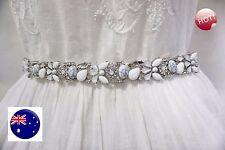 Women Bride crystal bling Rhinestone Gorgeous Wedding Dress Party Chain Belt