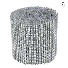 Wedding Rhinestone Crystal Ribbon Bling Decor Diamond Mesh Wrap Roll Sparkling N