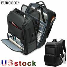 EURCOOL Men's 17.3inch Laptop Backpack Multifunction USB Charging Travel Bag US