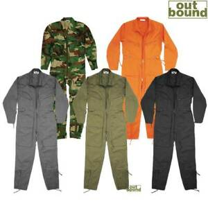 Flying Suit Flight Pilot Continental Aviator Air Force Army Coverall Zip Boiler